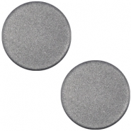 Polaris cabochon soft tone plat 12mm matt Silver black