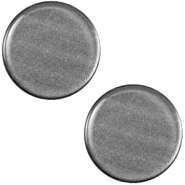 Polaris cabochon soft tone plat 20mm shiny Silver black