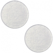 Polaris cabochon soft tone plat 20mm matt Silver grey