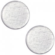 Polaris cabochon soft tone plat 20mm shiny Silver grey