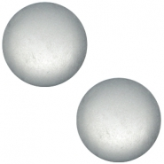 Polaris cabochon soft tone 20mm matt Silver grey