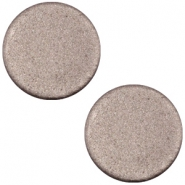Polaris cabochon soft tone plat 20mm matt Dark chocolate brown