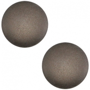 Polaris cabochon soft tone 20mm matt Dark chocolate brown