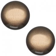 Polaris cabochon soft tone 20mm shiny Dark brown