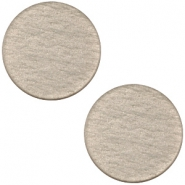 Polaris cabochon soft tone plat 20mm matt Greige
