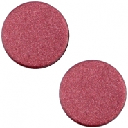 Polaris cabochon soft tone plat 12mm matt Aubergine red