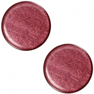 Polaris cabochon soft tone plat 20mm shiny Aubergine red
