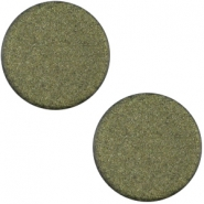 Polaris cabochon soft tone plat 20mm matt Army green