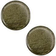 Polaris cabochon soft tone plat 12mm shiny Army green