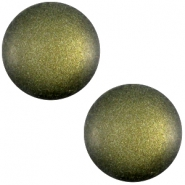 Polaris cabochon soft tone 12mm matt Army green