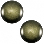 Polaris cabochon soft tone 12mm shiny Army green