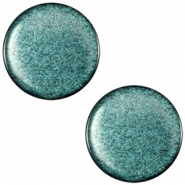 Polaris cabochon soft tone plat 12mm shiny Emerald green