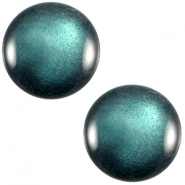 Polaris cabochon soft tone 12mm shiny Emerald green