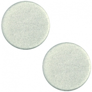 Polaris cabochon soft tone plat 12mm matt Green grey