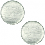 Polaris cabochon soft tone plat 20mm shiny Green grey