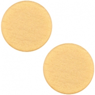 Polaris cabochon soft tone plat 12mm matt Golden yellow