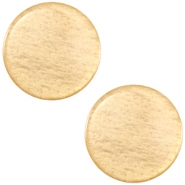 Polaris cabochon soft tone plat 12mm shiny Golden yellow