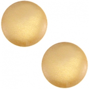 Polaris cabochon soft tone 20mm matt Golden yellow
