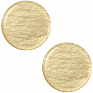Polaris cabochon soft tone plat 20mm shiny Khaki green