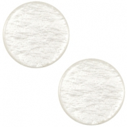 Polaris cabochon soft tone plat 20mm shiny Greenish beige