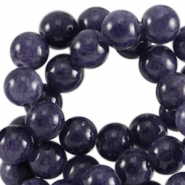 Half edelsteen kralen rond 8mm Agaat Dark purple