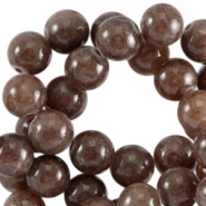 Half edelsteen kralen rond 6mm Agaat Dark nature brown