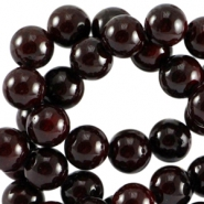 Natuursteen Jade ronde kralen 4mm Dark port red