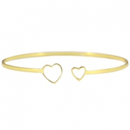 Armband metaal two hearts Goud