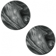 Cabochon Polaris Perseo plat 12mm matt Black - antracite