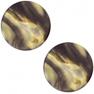 Cabochon Polaris Perseo plat 20mm matt Black gold
