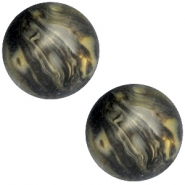 Polaris cabochon Perseo 20mm matt Black gold