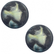 Polaris cabochon Perseo 12mm matt Antracite blue