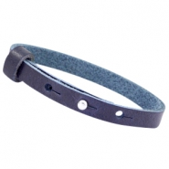 Cuoio armbanden leer 8 mm voor 12 mm cabochon Strong blue