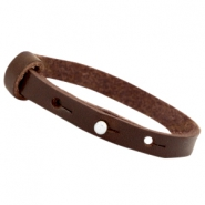 Cuoio armbanden leer 8 mm voor 12 mm cabochon Dark brown