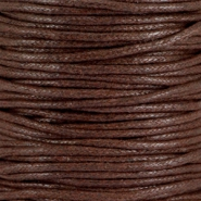 Waxkoord 2.0 mm Chocolate brown