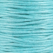 Waxkoord 2.0 mm Light aquamarine blue