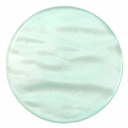 35 mm platte cabochons Polaris Elements Parelmoer Light azore green