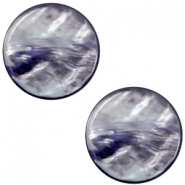 7 mm platte cabochon Polaris Elements Parelmoer Montana blue