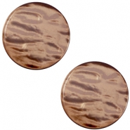 7 mm platte cabochon Polaris Elements Parelmoer Soft major brown