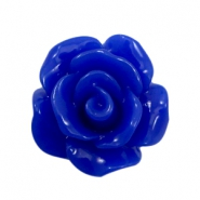 Roosjes kralen 10mm shiny Cobalt blue