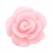 Roosjes kralen 10mm matt Pink rose