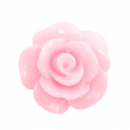 Roosjes kralen 10mm shiny Pink rose