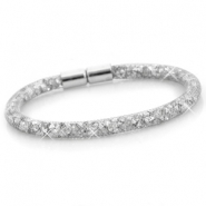 Armbanden single met kristal facet Zilver - silver crystal