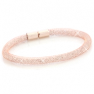 Armbanden single met kristal facet Rose gold - crystal