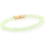 Armbanden single met kristal facet Crysolite green - crystal