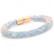 Armbanden met kristal facet Rose gold - aqua blue