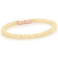 Armbanden single met kristal facet Goud - light colorado topaz