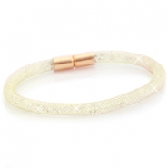 Armbanden single met kristal facet Goud - crystal