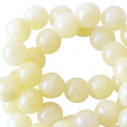 Natuursteen jade ronde kralen 8mm Light yellow
