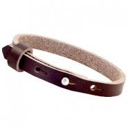Cuoio armbanden leer 8 mm voor 12 mm cabochon French roast brown